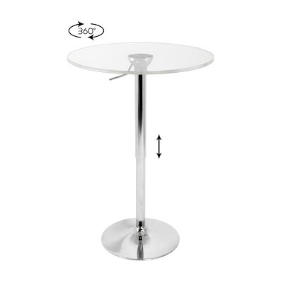 LumiSource Adjustable Bar Table with Acrylic Top
