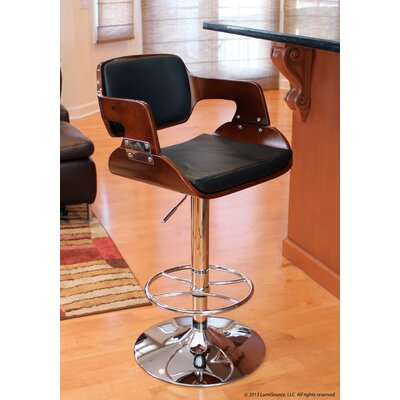 Fiore Barstool in Cherry / Black
