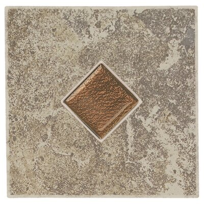 Daltile Castle De Verre 6 1/2&quot; x 6 1/2&quot; Decorative Accent Tile in Grey Stone
