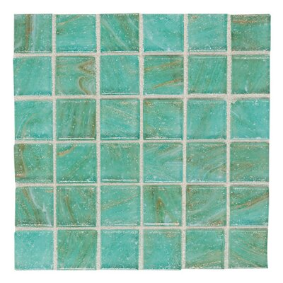 "Daltile Elemental Glass 12"" x 12"" Mosaic Tile in Mint Julep"