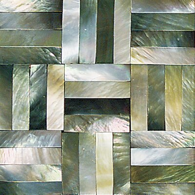 "Daltile Ocean Jewels 2"" x 2"" Basketweave Accent Tile in Black Lip"