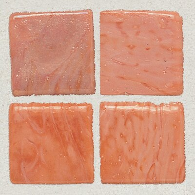 "Daltile Sonterra Collection 12"" x 12"" Opalized Mosaic Tile in Rosa"
