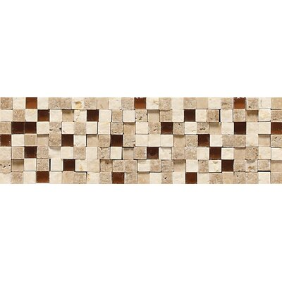 "Daltile Fidenza 9"" x 2"" Stone and Glass Accent Decorative Border"