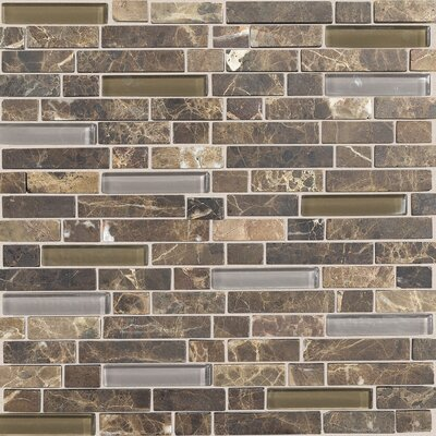 Daltile Stone Radiance 12&quot; x 12&quot; Random Mosaic Tile Blend in Wisteria / Tortoise (10 Pieces)