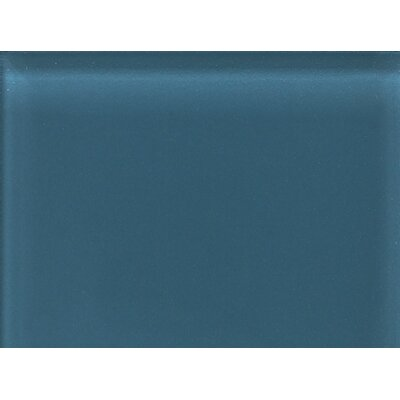"Daltile Glass Reflections 11-1/2"" x 15-1/2"" Glossy Random Interlocking Accent in Twilight Blue"