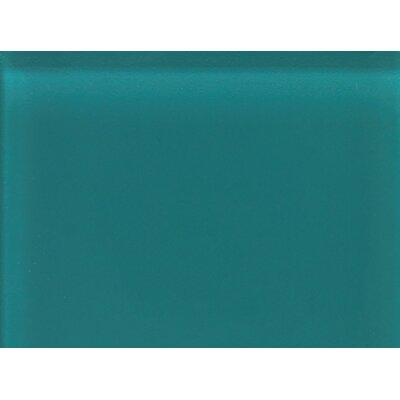 "Daltile Glass Reflections 11-1/2"" x 15-1/2"" Glossy Random Interlocking Accent in Almost Aqua"