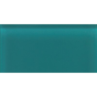 "Daltile Glass Reflections 3"" x 6"" Glossy Wall Tile in Almost Aqua"
