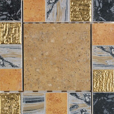 "Daltile Terra Antica 6"" x 6"" Decorative Accent Insert in Oro"