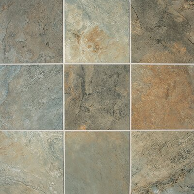 "Daltile Franciscan Slate 18"" x 18"" Unpolished Field Tile in Woodland Verde"