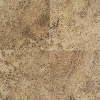 "Daltile Travata 13"" x 13"" Plain Glazed Porcelain Tile in Caramel Haze"