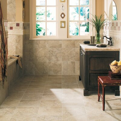 "Daltile Fashion Accents 8"" x 2"" Dynasty Laurel Decorative Accent in Siena"
