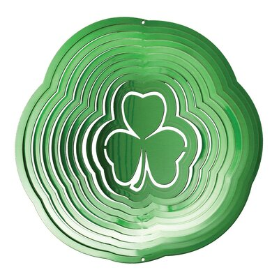 Iron Stop Green Shamrock Wind Spinner