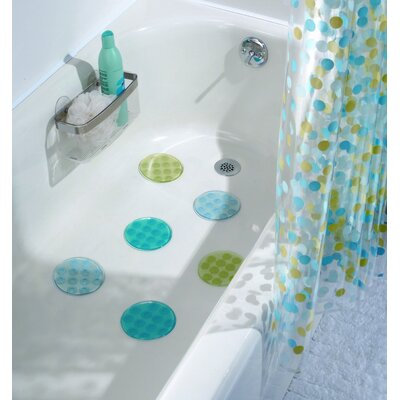 InterDesign Glee Rain Bath Dot (Set of 6)