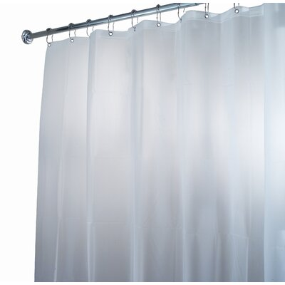 InterDesign EVA Frost Shower Curtain/Liner in White