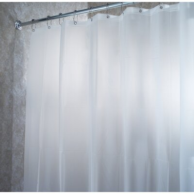 InterDesign EVA Frost Extra Long Chlorine Free Shower Curtain/Liner in White