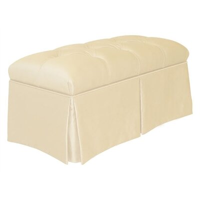 Skyline Furniture Tufted Skirted Bedroom Storage Ottoman