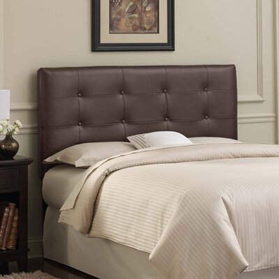 Tufted Leather Upholstered Headboard