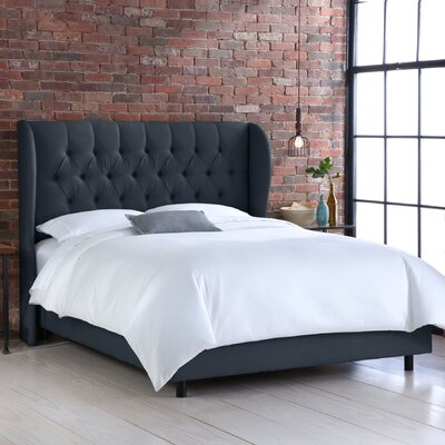 Skyline Furniture Wingback Linen Bed