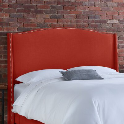 Skyline Furniture Nail Button Linen Wingback Headboard