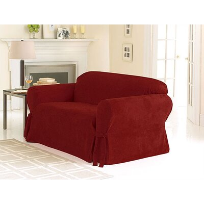 Soft Suede Sofa Skirted Slipcover