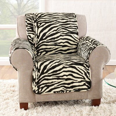 Sure-Fit Zebra Quick Club Chair Slipcover
