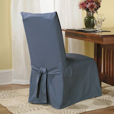 Sure-Fit Cotton Duck Dining Chair Slipcover