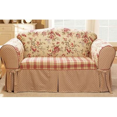 Sure-Fit Lexington Floral Pet Loveseat Cover