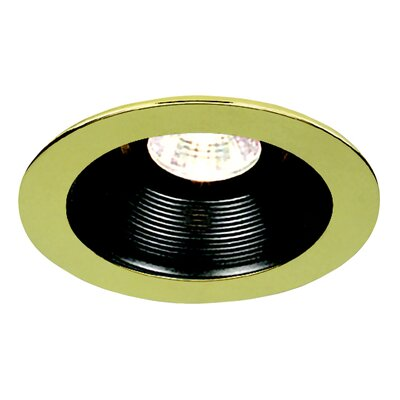 "Royal Pacific 4"" Baffle with Polished Brass Trim Ring with Black"