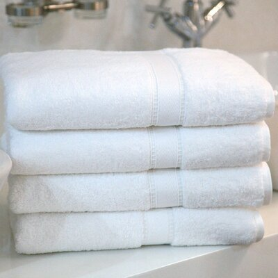 Linum Home Textiles Four Piece Terry Bath Towel Set in Pure White