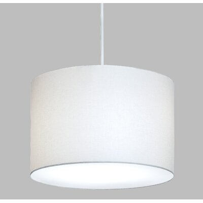 ILEX Lighting Drum Pendant with White Cord