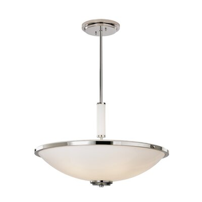 "ILEX Lighting Fussen 24"" Bowl Pendant with Glass Tubing"