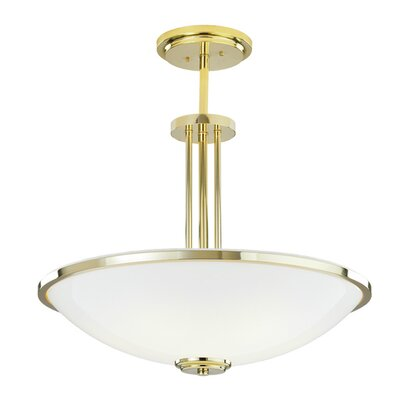 ILEX Lighting Manchester Bowl Pendant with Triple Stem