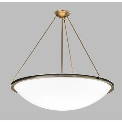 "ILEX Lighting Regent 24"" Bowl Pendant with Triple Rods and Single Stem"