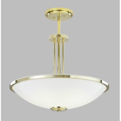 ILEX Lighting Manchester Bowl Pendant with Single Stem