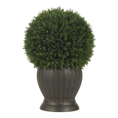 Nearly Natural Cedar Ball Topiary in Green