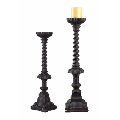 Sterling Industries Composite Fronton Candlestick (Set of 2)