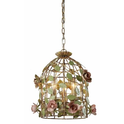 Sterling Industries 3 Light Cage Bird Foyer Pendant