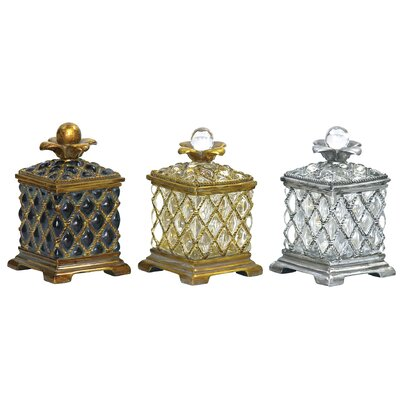 Sterling Industries Assyrian Boxes (Set of 3)
