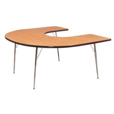 Ironwood Horseshoe Tapered Leg Table