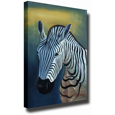 White Walls 'Lonely Zebra' Canvas Art