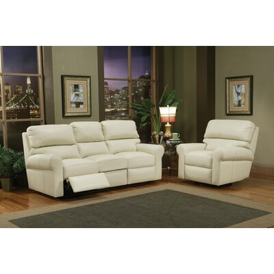 Omnia Furniture Brookfield Leather Reclining Sofa