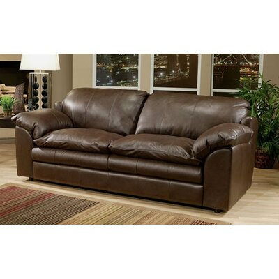Omnia Furniture Encino Leather Chair and Ottoman