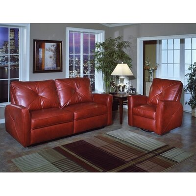 Omnia Furniture Bahama Leather Reclining Sofa