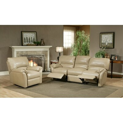 Omnia Furniture Mandalay Leather Reclining Sofa