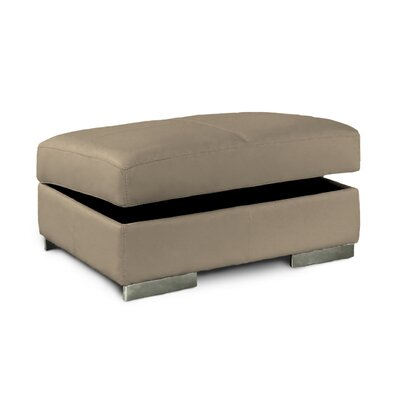 Park Tower Jumbo Leather Ottoman