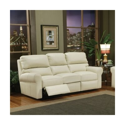 Omnia Furniture Brookfield Leather Reclining Loveseat
