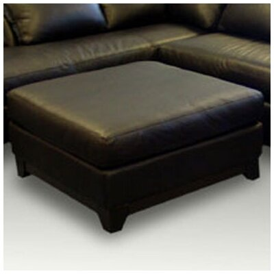 Villa Leather Cocktail Ottoman