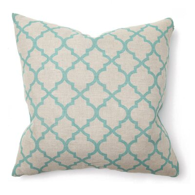 Villa Home Illusion Tile Print Pillow in Turquoise