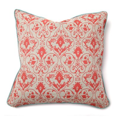 Villa Home Illusion Tuscan Pillow in Red Gate with Aqua