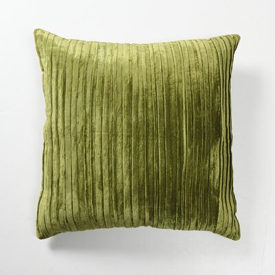 Villa Home Illusion Venetian Velvet Pleated Pillow in Green